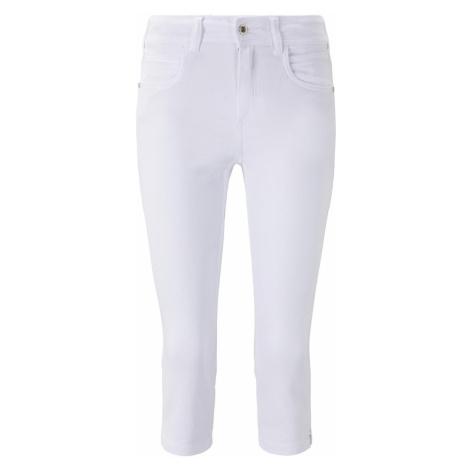 TOM TAILOR Damen Kate Slim Capri-Jeans, weiß
