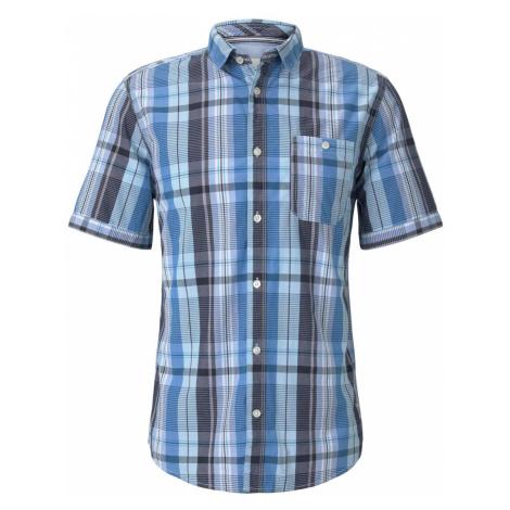 TOM TAILOR Herren Kariertes Hemd, blau