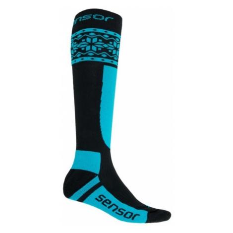 Socken Sensor THERMOSNOW NORWEGEN schwarz/blau 17200089