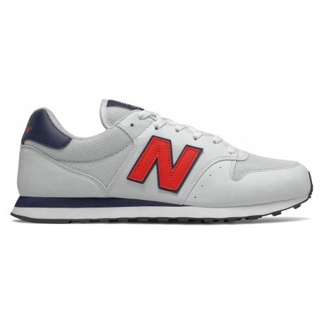 New Balance Sneaker Herren GM500TA1 White/Velocity Red Weiß