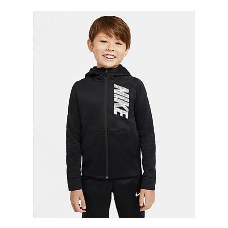Nike Nike Therma Trainings-Hoodie mit durchgehendem Reißverschluss und Grafik für Kinder (Jungen