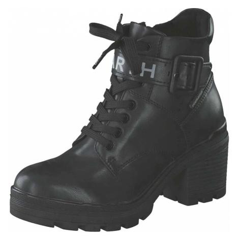Marco Tozzi Earth Edition Schnür Boots Damen schwarz