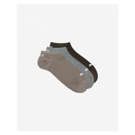 Puma 3 Paar Socken Braun Grau