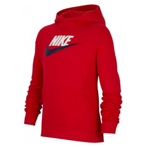 Nike NSW PO HOODIE CLUB FLC HBR rot - Jungen Hoodie