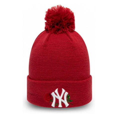 New Era MLB TWINE BOBBLE KNIT KIDS NEW YORK YANKEES rot - Mädchen Wintermütze