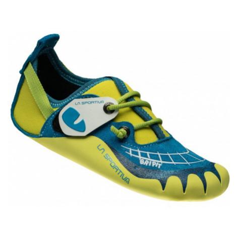 La Sportiva Gripit Kinder Kletterschuhe blau,blue/sulphur