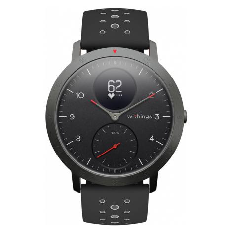 Withings Steel HR Sport, Schwarz - Multisport Hybrid Smartwatch- Überwachung der Herzfrequenz, S