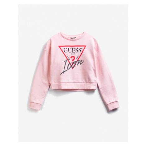 Guess Active Icon Sweatshirt Kinder Rosa