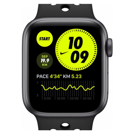 Apple Watch Nike Series 6 (GPS) mit Nike Sportarmband 44-mm-Aluminiumgehäuse in Space Grau - Gra