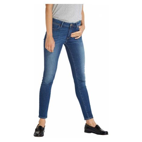 Wrangler Damen Jeans Skinny - Skinny Fit - Blau - Authentic Blue