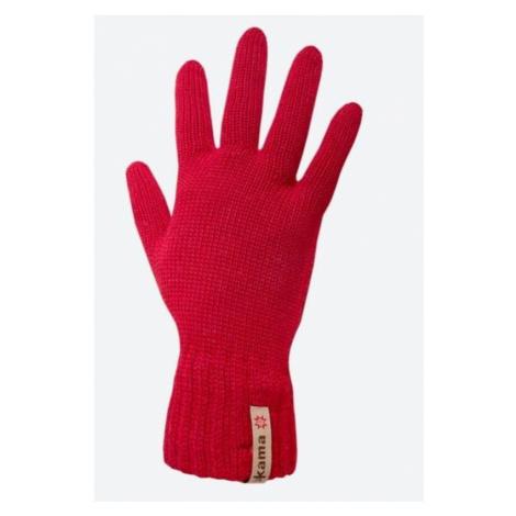 Gestrickte Merino Handschuhe Kama R102 104 red