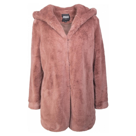Urban Classics Damen Jacke Hooded Teddy Coat