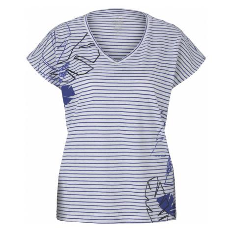TOM TAILOR Damen Gestreiftes T-Shirt mit Bio-Baumwolle, blau