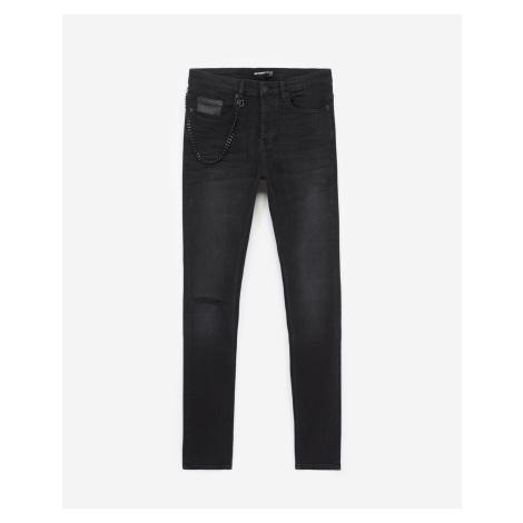 The Kooples - Schwarze Jeans mit Kette, abnehmbar - DAMEN