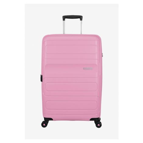 American Tourister Sunside Spinner M (68 cm) erweiterbar Hartschale Koffer Pink Gelato