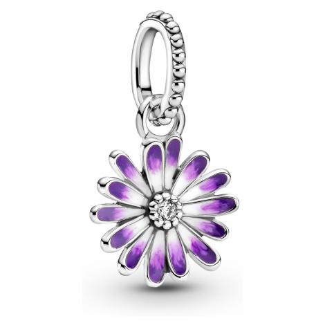 Pandora 798771C01 Silber Charm-Anhänger Lilafarbenes Gänseblümchen