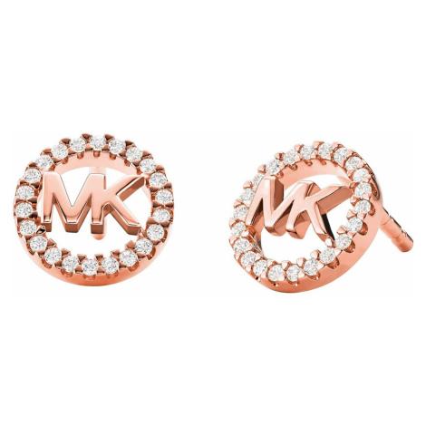 Michael Kors MKC1247AN791 Damen-Ohrringe Ohrstecker MK Silber roségold