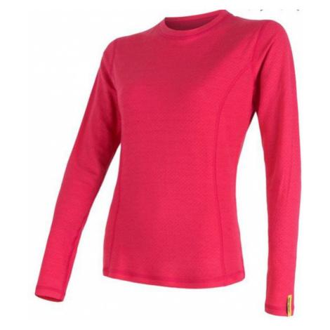 Damen Sensor Merino DF T-Shirt Langärmel pink 16200105