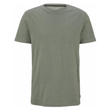 TOM TAILOR DENIM Herren T-Shirt mit Allover-Print, grün