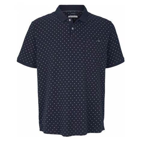 TOM TAILOR Herren gepunktetes Poloshirt mit Bio-Baumwolle , blau