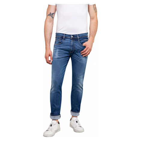 Replay Herren Jeans Anbass - Slim Fit - Blau - Medium Blue