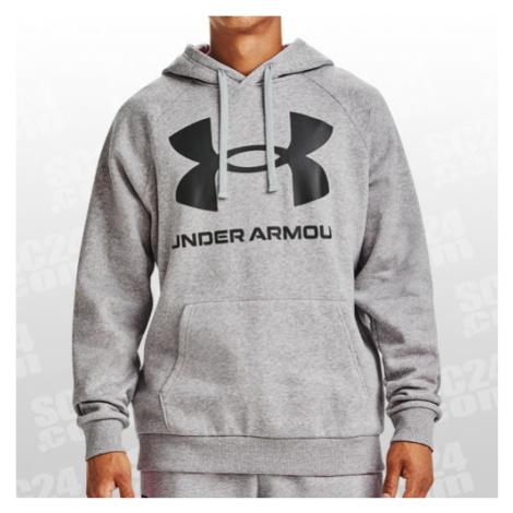 Under Armour ColdGear Rival Fleece Big Logo Hoodie grau/schwarz Größe SM