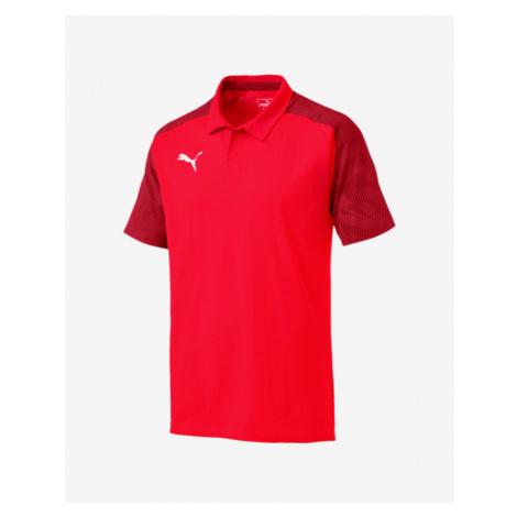 Puma Cup Sideline Polo T-Shirt Rot