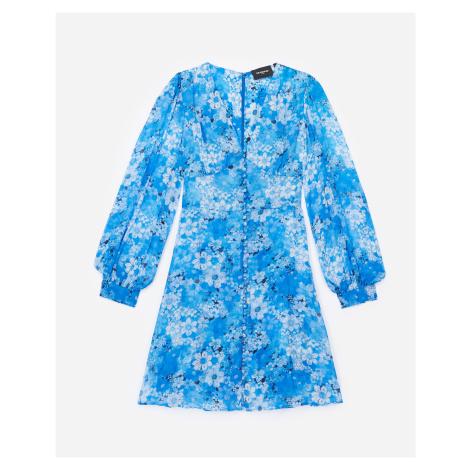 The Kooples - Kurzes Kleid Blau geknöpft bedruckt - HERREN