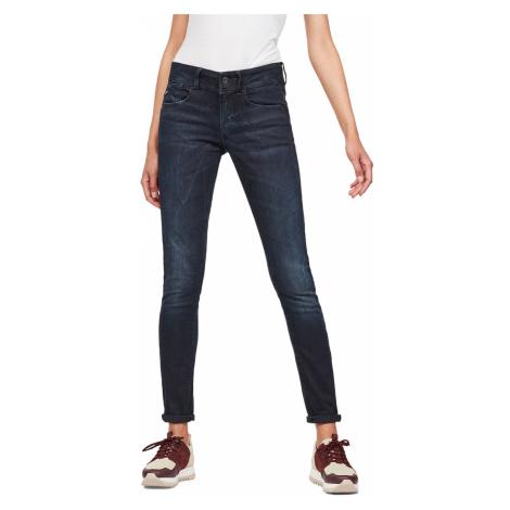 G-Star Damen Jeans Lynn Mid Waist Skinny Fit - Blau - Dark Aged G-Star Raw
