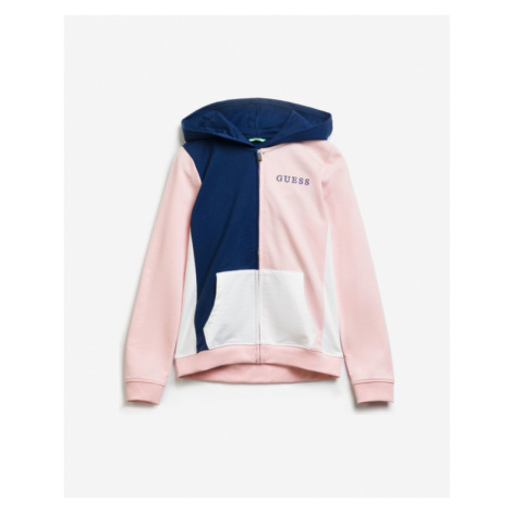 Guess Colorblock Sweatshirt Kinder Blau Rosa
