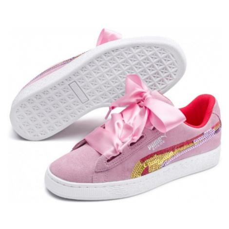 Puma SUEDE HEART TRAILBLAZER SQ rosa - Kinderschuhe