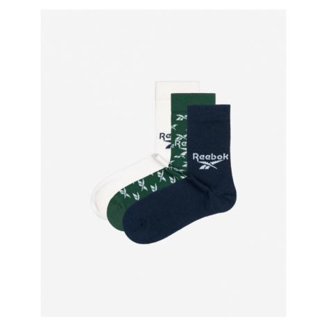 Reebok 3 Paar Socken Blau Grün Weiß
