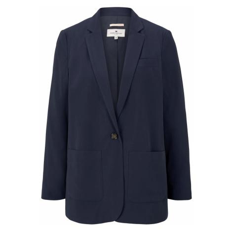 TOM TAILOR Damen Lockerer Blazer, blau