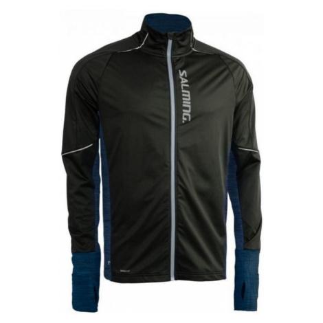 Jacke Salming Thermal Wind Jacket Men Black/Blue Melange