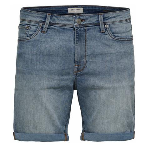 SELECTED Superstretch Jeansshorts Herren Blau