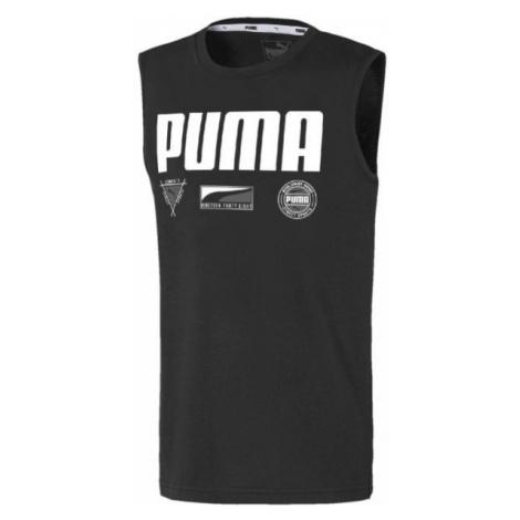 Puma ALPHA SUMMER SVEELESS TEE B schwarz - Jungen Muskelshirt