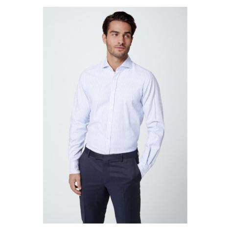 Smart-Shirt Lano in Hellblau gestreift