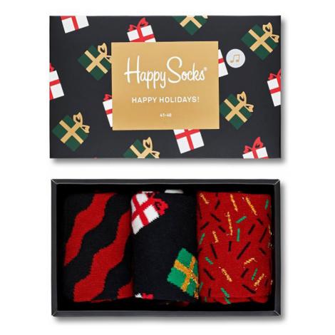 Happy Socks Geschenkbox HAPPY HOLIDAYS XMAS08-7001 Rot Schwarz