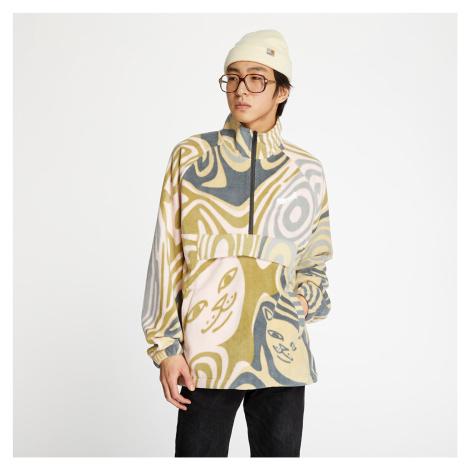 RIPNDIP Hypnotic Brushed Fleece Half Zip Multicolor