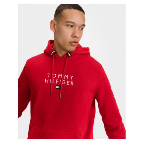 Tommy Hilfiger Stacked Flag Sweatshirt Rot