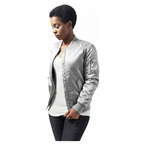 Urban Classics Damen Jacke Ladies Satin Bomber Jacket