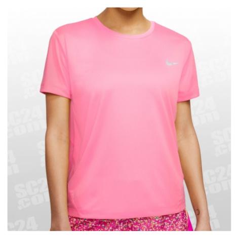 Nike Miler Top SS Women pink Größe L