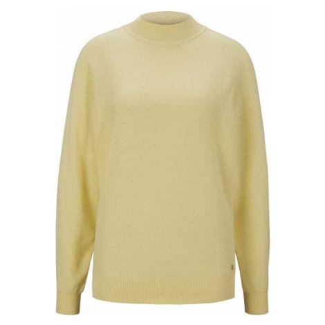 TOM TAILOR DENIM Damen Strickpullover aus Bio-Baumwolle , gelb