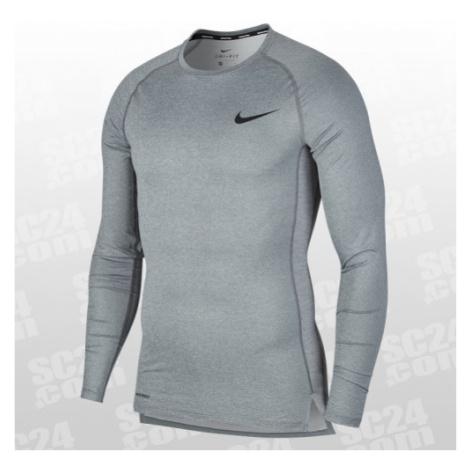 Nike Pro Tight Top LS grau Größe M
