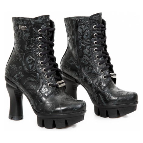 High Heels Frauen - VINTAGE FLOWER NEGRO - NEW ROCK - M.NEOPUNK017-S3
