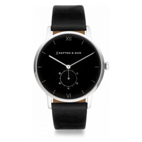 Kapten & Son Uhr Heritage Silber Schwarz