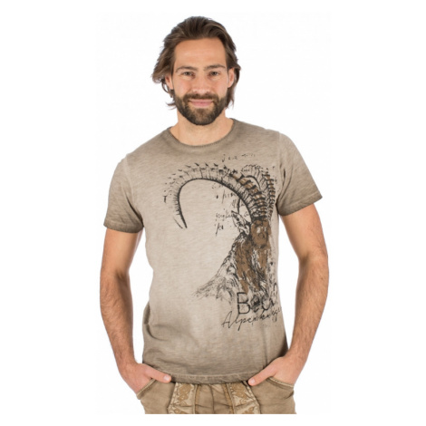 Trachten T-Shirt RUDI braun