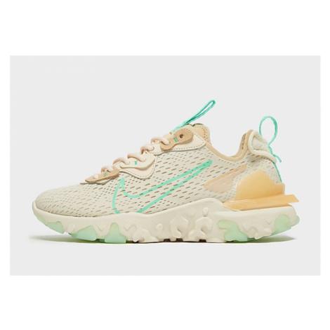 Nike React Vision Damen - Pearl White/Sesame/Coconut Milk/Green Glow - Damen, Pearl White/Sesame