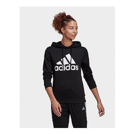 Adidas Essentials Relaxed Logo Hoodie - Black / White - Damen, Black / White