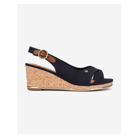 Wrangler Panama Mila Schuhe mit Keilabsatz Blau